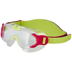 speedo Biofuse Sea Squad Mask Kinder passion pink/hydro green
